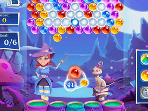 Bubble Witch Saga 2 is based on the Puzzle Bobble / Bust-A-Move games.