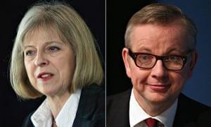 Theresa May and Michael Gove