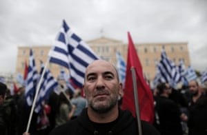 Far-right Golden Dawn party supporters demonstrate in front of the Parliament before a vote that will decide whether the deputies of the party will be stripped of their immunity from prosecution, in Athens, Greece, 04 June 2014.