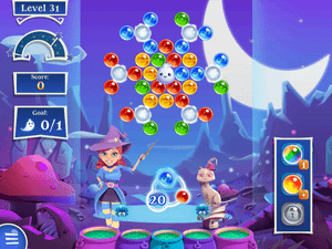Bubble Witch Saga 2's Free the Ghost levels.
