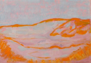 Dune Sketch in Orange, Pink and Blue, 1909.