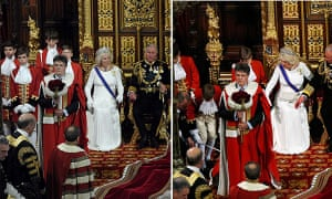 Fainting page boy at the State Opening of Parliament