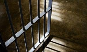 Metal bar door inside a prison