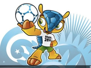 Fuleco, the mascot of the 2014 World Cup