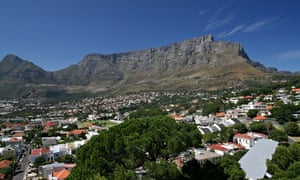 view over the city of Cape Town, South Africa, and the Table Mountain capetown