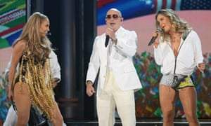 Jennifer Lopez, Pitbull and singer Claudia Leitte perform the official World Cup song (which we're attaching to Brazil whether they like it or not).