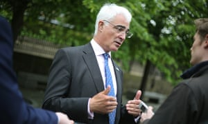 Better Together leader Alistair Darling in Glasgow.
