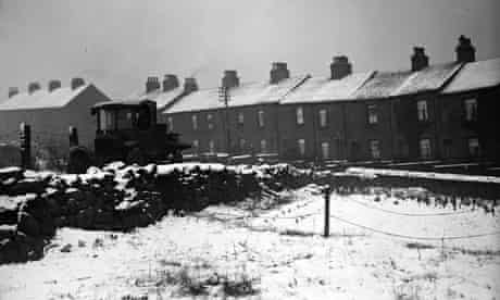 Barnsley covered in snow, 1930.