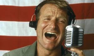 Robin Williams in Good Morning Vietnam.