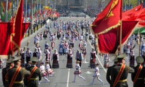 Victory Day celebrations in Minsk, on 9 May, 2013, marking the 1945 victory over Nazi Germany.