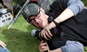 Josh Trank on the set of Chronicle