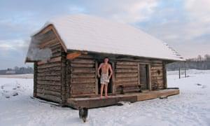 A smoke sauna in Sepa Farm, Voru County, Estonia.