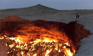 The Door to Hell in Derweze, in Ahal Province, Turkmenistan