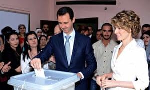 bashar al-assad voting