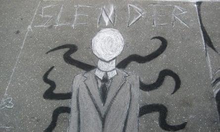 Slender Man graffitti