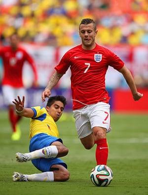 England v ecuador: Jack Wilshere goes on a marauding run