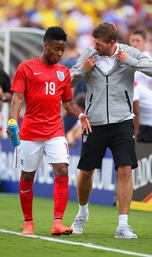 England v ecuador: Raheem Sterling sent off