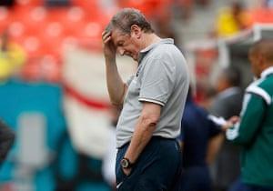 England v ecuador: England coach Roy Hodgson reacts