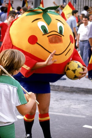 memory lane: Naranjito, the official mascot for Spain 82 World Cuporange victory