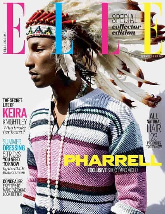 Pharrell on July Elle cover