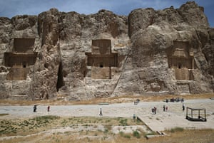 Agencies Iran Moore: tombs in cliffs