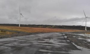 A two turbine wind energy project at Oakdale business park, the site of a former coal mine in Wales