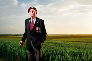 William Bray of the 7th Battalion, The Parachute Regiment, Drop Zone N, Ranville. This photograph was taken on 6 June 2013 - exactly sixty-nine years to the day after William had parachuted into the fields behind him to play his part in the liberation of Nazi occupied Europe.