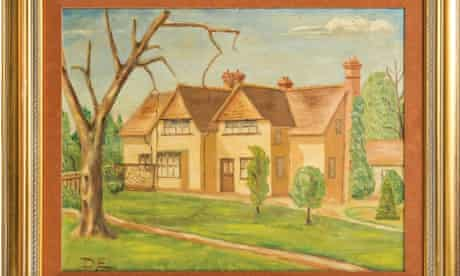 Dwight D Eisenhower's painting of Telegraph Cottage in Kingston