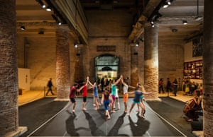 Dance & Architecture, one of the dance performances that make up the International Festival of Contemporary Dance inside the Corderie at the Arsenale.