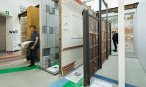 This room explores the meaning of the wall, giving examples of various wall types, such as brick, mud, Shoji sliding partition, acoustic paneling and a seventeenth century Dutch oak paneling from the Rijksmuseum.