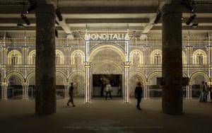 Monditalia entrance to the Corderie at the Arsenale.