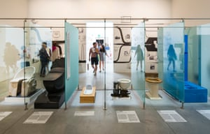 The toilet room showcases a range of historical toilets, ranging from a Roman toilet through to the latest Japanese washlet.