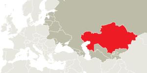 Map Kazakhstan