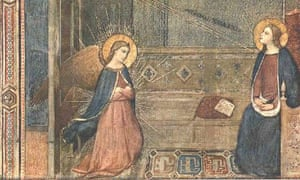 Magical art - miraculous painting of the Annunciation
