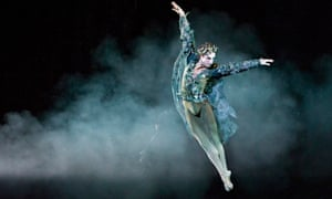 Steven McRae as Oberon in The Dream at the Royal Opera House.