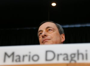 European Central Bank (ECB) President Mario Draghi addresses the monthly ECB news conference in Frankfurt June 5, 2014.