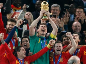 Spain have more caps combined than any other team, with goalkeeper Iker Casillas having the most of any player in the tournament.