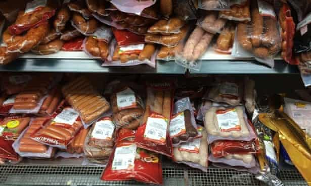 Polish foods in a local shop.