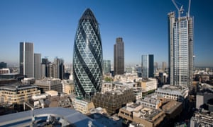 The Gherkin in the City of London