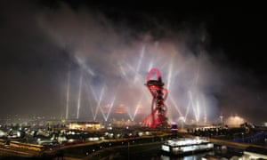 London's Olympic stadium and the Arcelor Mittal Orbit tower