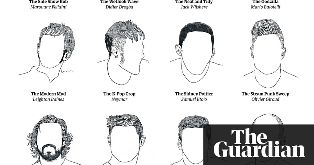 World Cup footballers' haircuts