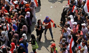 Protest in Tahrir Square in Cairo, Egypt