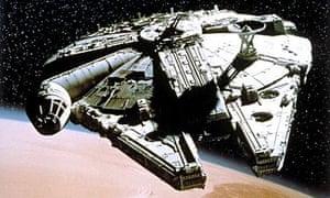 Star Wars IV 1977 millennium falcon spaceship