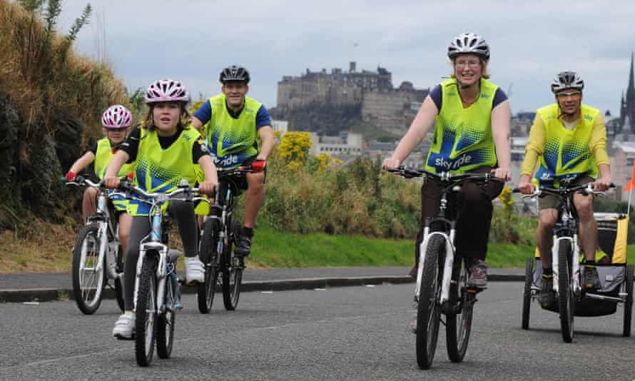 Thousands of participants enjoyed the city's finest sights at the first ever Sky Ride Edinburgh today - a free, fun, family cycling event from British Cycling, Scottish Cycling and Sky.