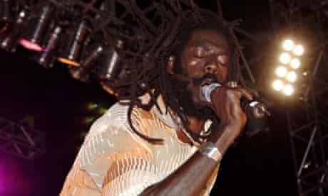 Buju Banton performing in New York in 2005: he hit the scene with the homophobic Boom Bye Bye back i