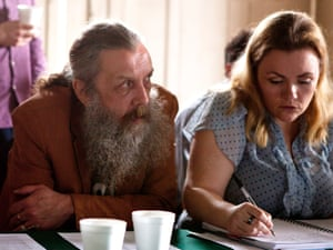 Alan Moore with daughter and editor Leah at one of the planning sessions for Electricomics