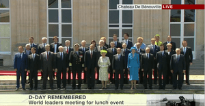 World leaders at commemorations to mark the 70th anniversary of D-day/
