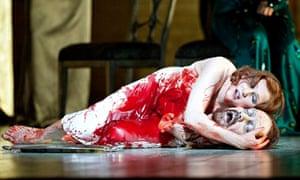Angela Denoke (Salome) in Salome by Richard Strauss