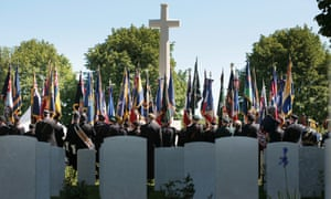 Service of remembrance at the Commonwealth War Graves Cemetery, Bayeux.