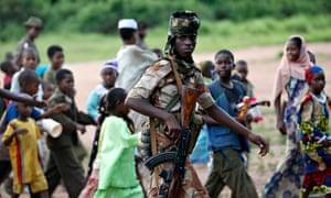 Armed Seleka soldier